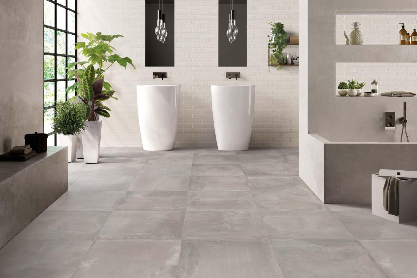 Keukentegels inspiratie impermo badkamer imitatie vloertegels